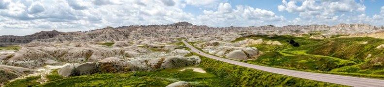 Panoramic Road in Badlands