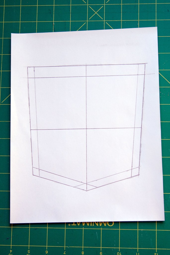 Template with centers marked