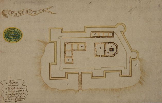 Map of Medieval Hungarian castle at Szigetvar