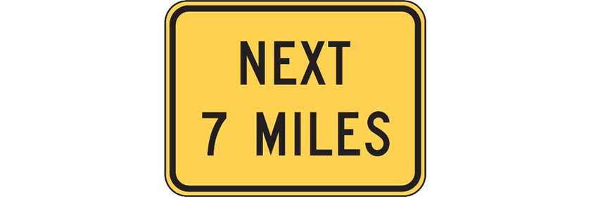 W7-3a - Next XX Miles Plaque