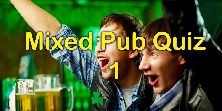 Mixed Pub Quiz - 1 - 20 questions at Quiz-a-go-go