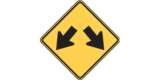 Quizagogo - US Road Signs - Two Arrows