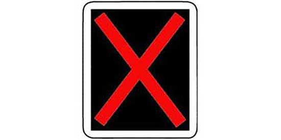 Quizagogo - US Road Signs - Lane Use Control Sign