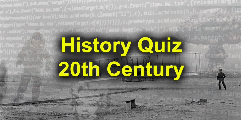 Quizagogo - 20th Century History Quiz