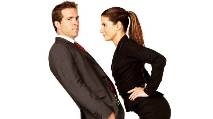 protagonistas do filme a proposta - homem e mulher