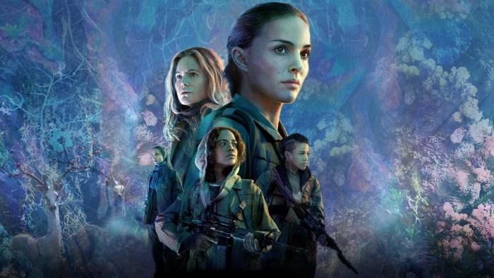 capa do filme Aniquilação com os protagonistas