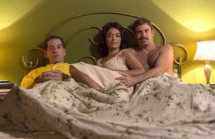 Juliana Paes e outros 2 atores protagonistas do filme dona flor e seus 2 maridos