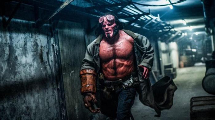 Hellboy em uma das cenas do filme