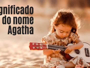 foto escrita significado do nome Agatha