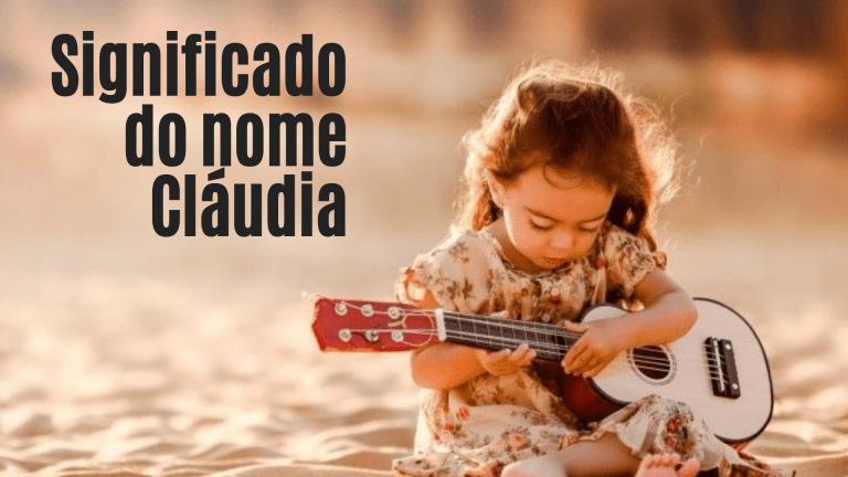 foto escrita significado do nome Cláudia