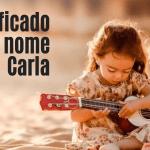 foto escrita significado do nome Carla
