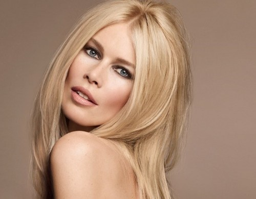foto da modelo Claudia Schiffer