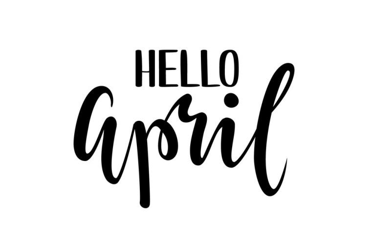 imagem escrito Hello April ou Olá abril traduzido para o português