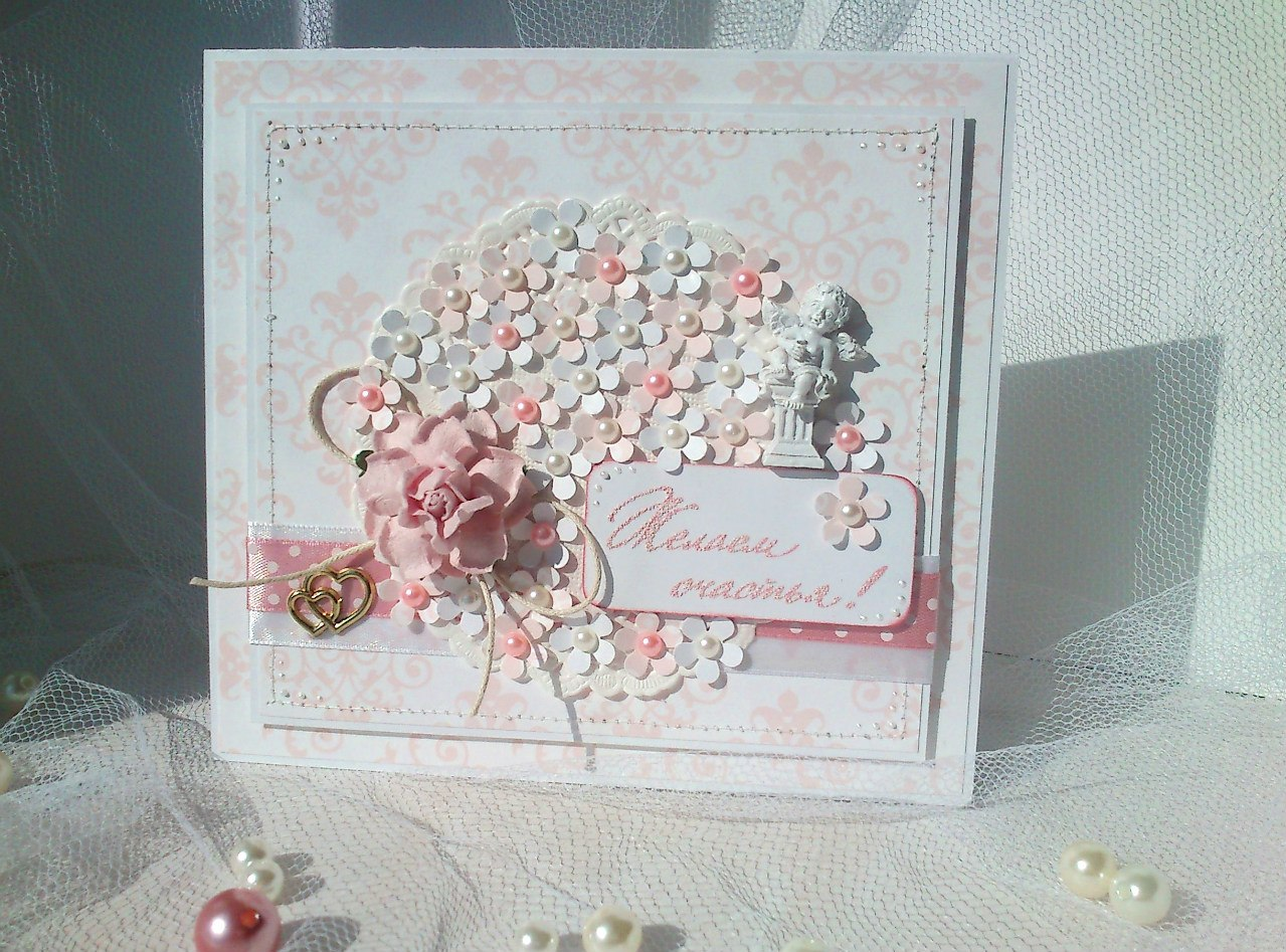 свадебная открытка своими руками скрапбукинг мастер