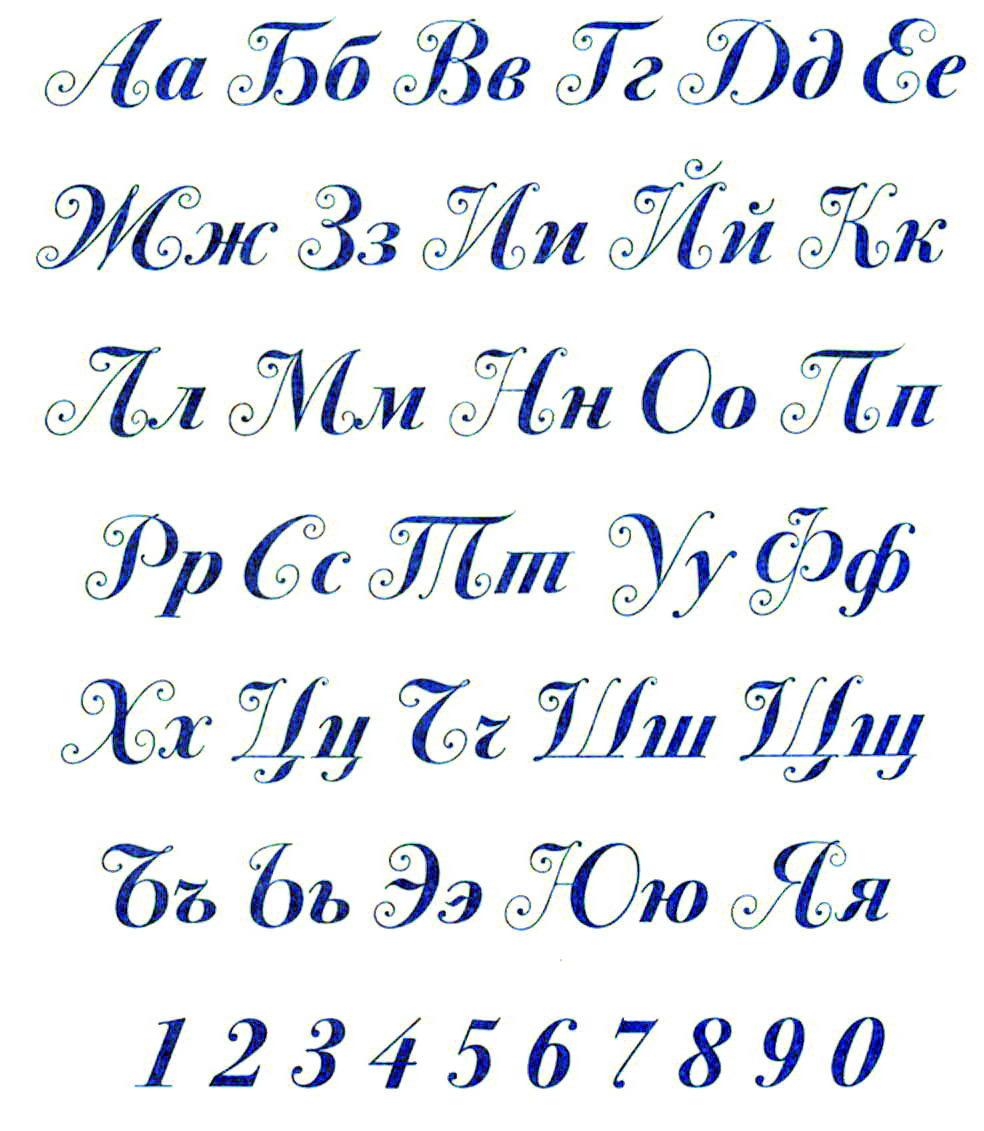 Трафареты букв русского алфавита красивые