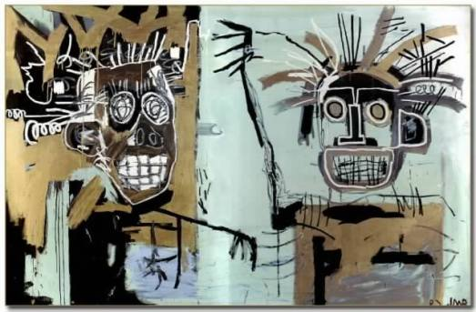 Untitled (Two Heads on Gold), 1982, Jean-Michel Basquiat