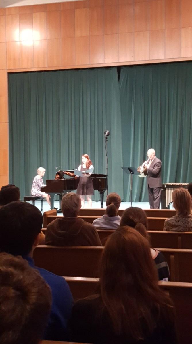 Laura Kammerer-Piano, Amanda Ensign-Singer, Michael Saul-Horn