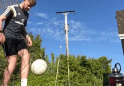Joel Mcilroy juggling a soccer ball