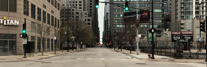 Picture of empty Chicago streets