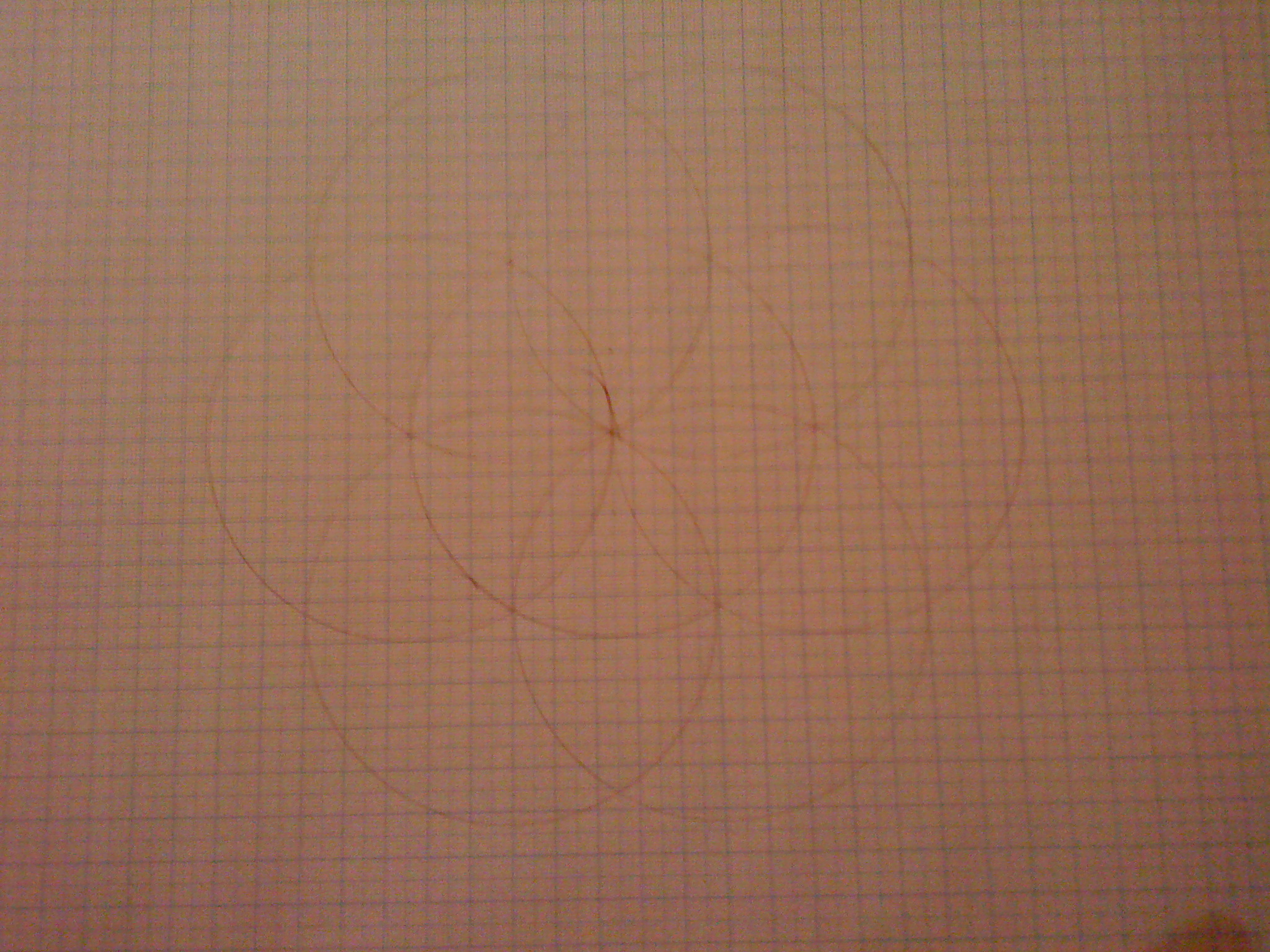 circles overlapping but spreading too