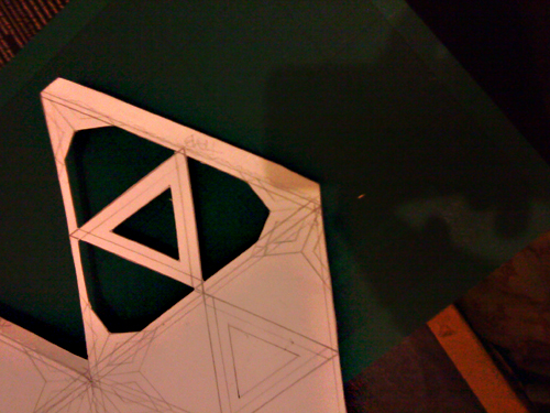 pattern on to Icosahedron