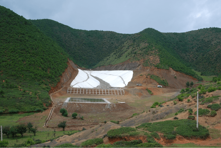 Figure 14: The garbage dump of Yongning in a mountain valley near Lake Lulu. Photographed on August 19, 2008