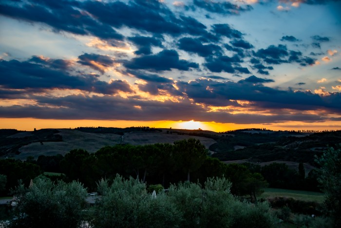 Val d'Orcia from Rome - sunset