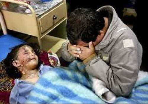 Father mourning over young girl