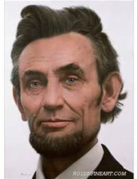 Abraham Lincoln expressing happiness