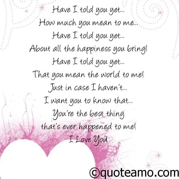 Sweet Love Quote Extraordinary Sweet Love Poem  Quote Amo