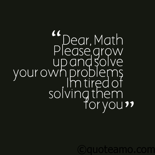 Problem Quotes Interesting Grow Up And Solve Your Problem  Quote Amo