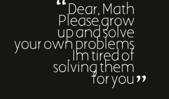 Grow up and solve your problem