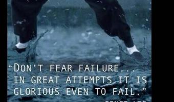 Don't fear the failure