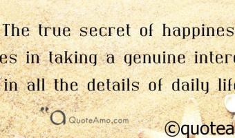 The secret of Happiness Facebook Cover Quotes