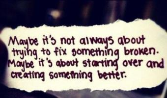 It's not about trying to fix something broken