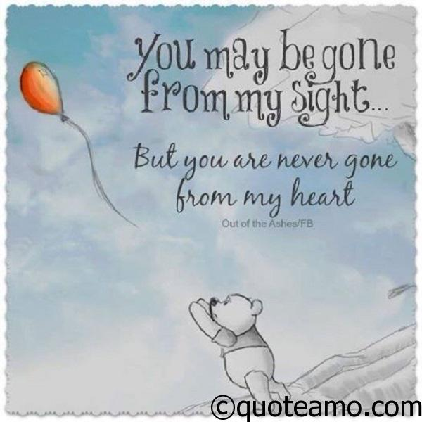 You Are Never Gone From My Heart Quote Amo