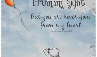 You are never gone from my heart