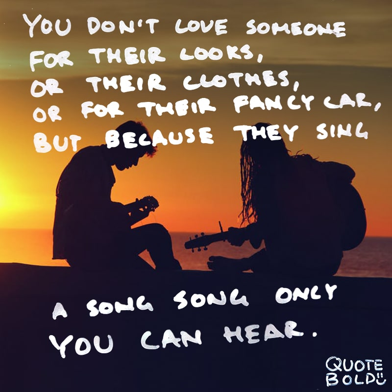 love quotes a song only you