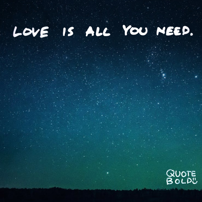 """quote image """"Love is all you need."""" – The Beatles"""