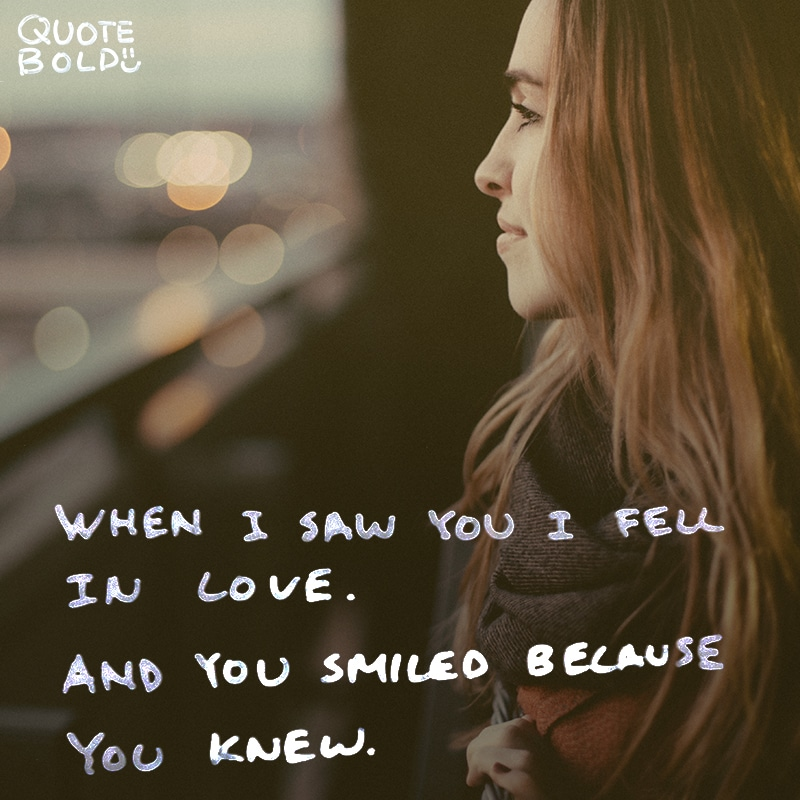 love quotes when i saw you