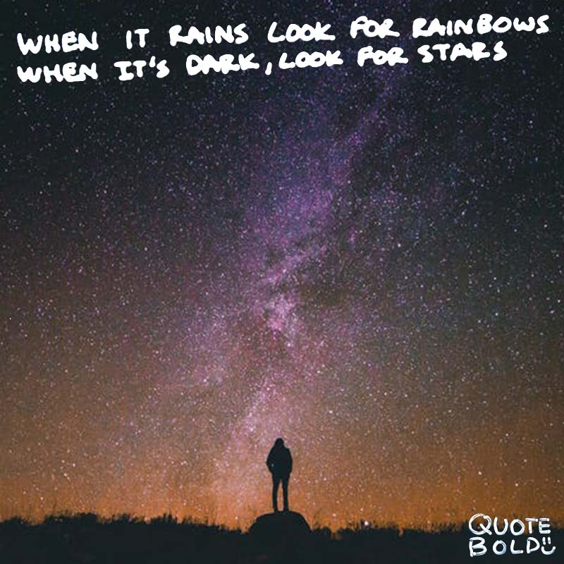 inspirational quotes when it rains