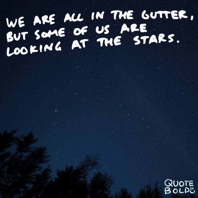 motivational quotes - stars oscar wilde