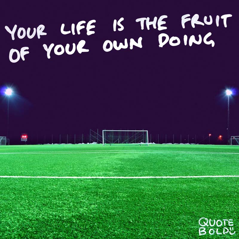 "focus on yourself quotes Joseph Campbell ""Your life is the fruit of your own doing. You have no one to blame but yourself."""