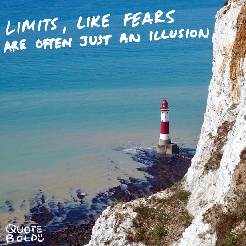 "focus on yourself quotes Michael Jordan. ""Never say never because limits, like fears are often just an illusion."""