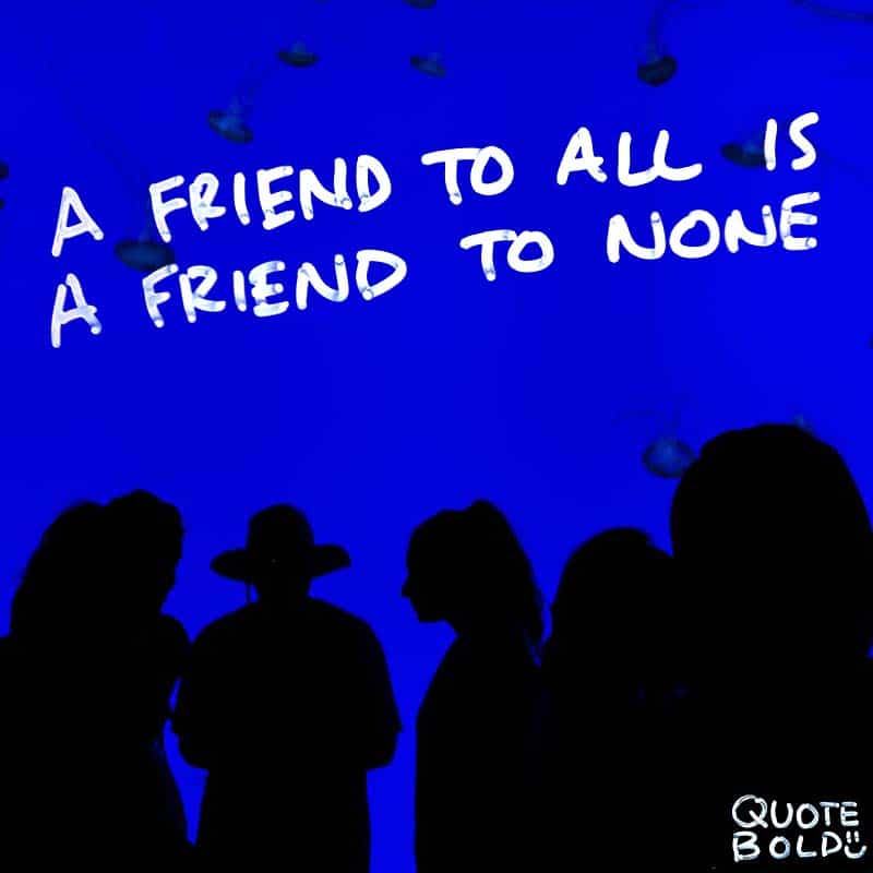 """best friend quotes image - Aristotle """"A friend to all is a friend to none."""""""