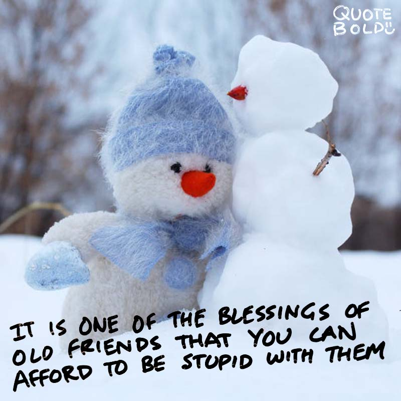 """best friend quotes - Ralph Waldo Emerson """"It is one of the blessings of old friends that you can afford to be stupid with them."""""""