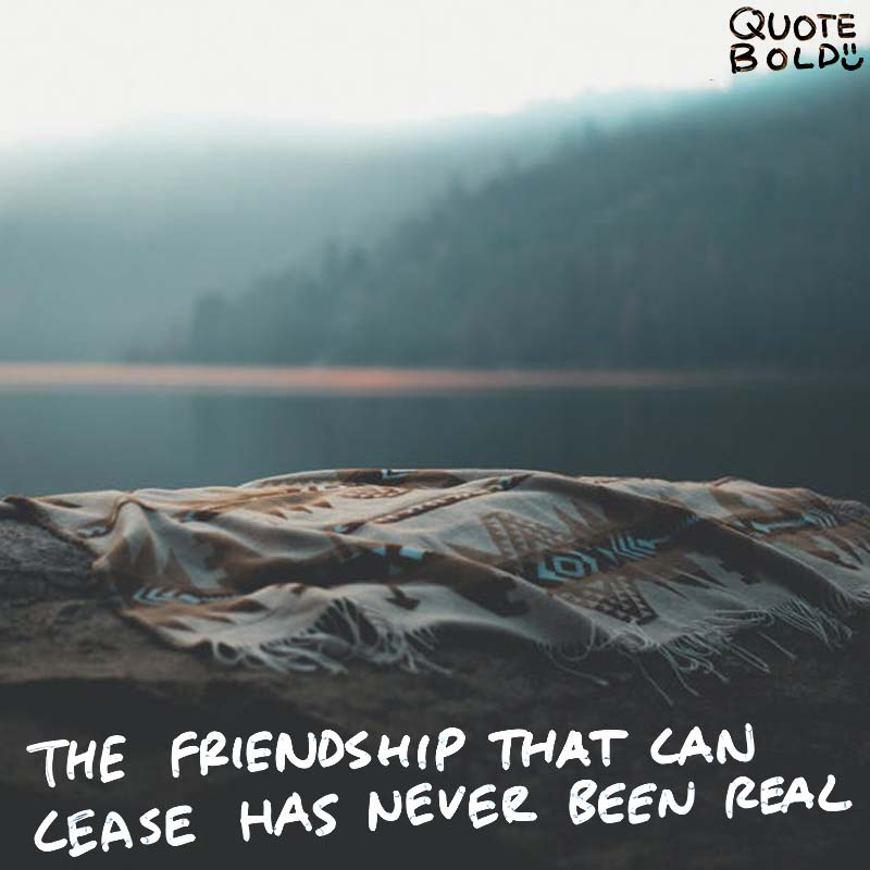 """best friend quotes - St Jerome """"The friendship that can cease has never been real."""""""