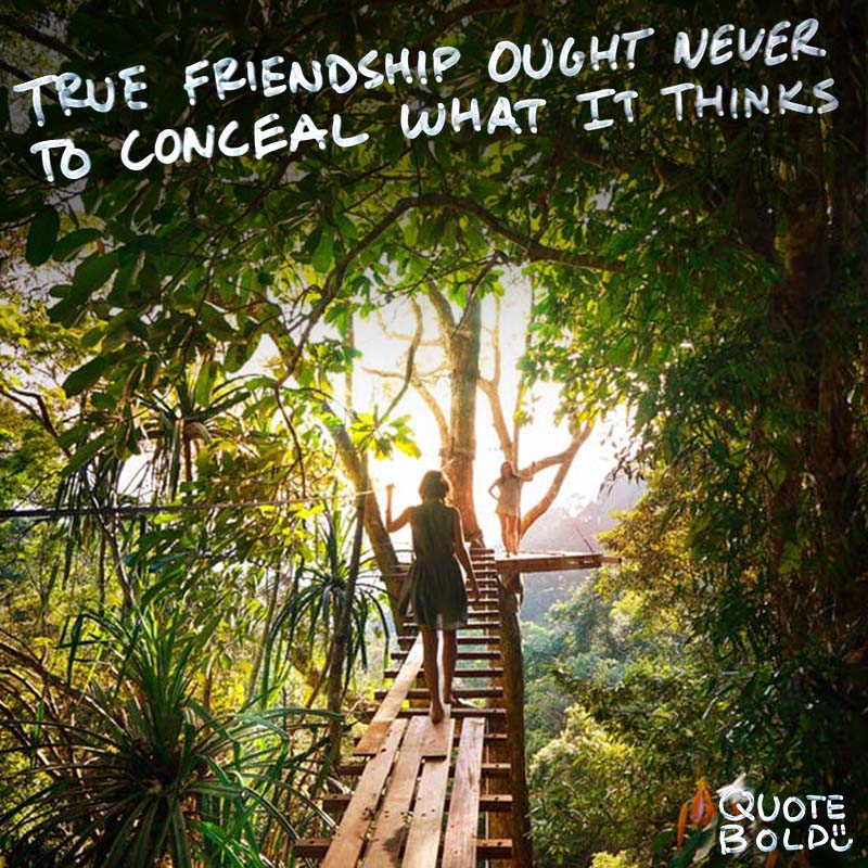 """best friend quotes image - St Jerome """"True friendship ought never to conceal what it thinks."""""""