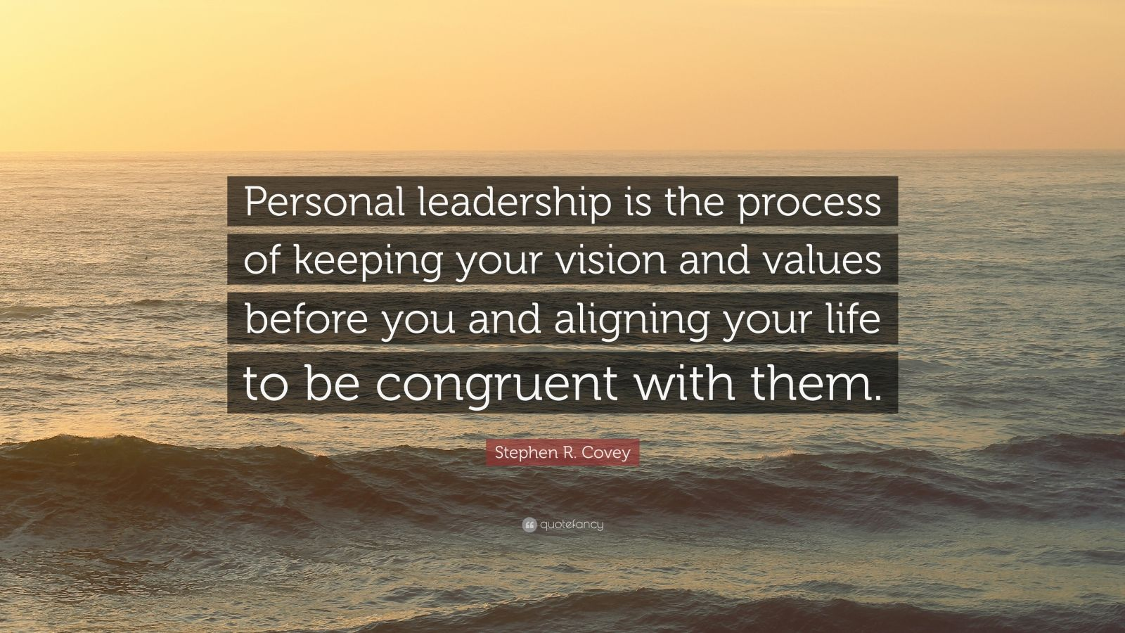Stephen R Covey Quote Personal Leadership Is The