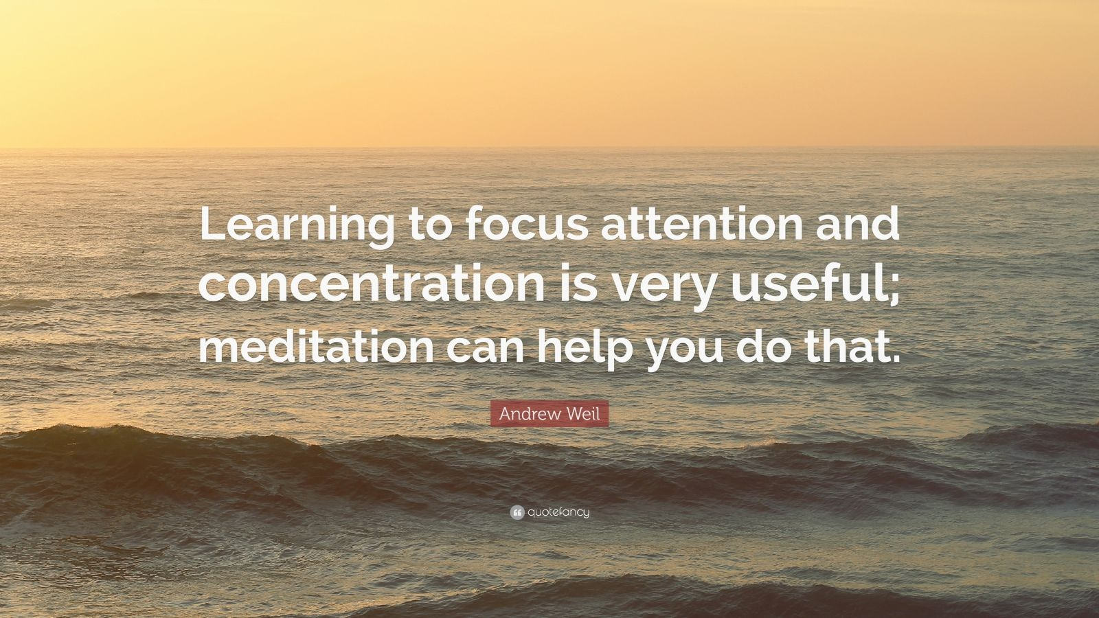 Andrew Weil Quote Learning To Focus Attention And
